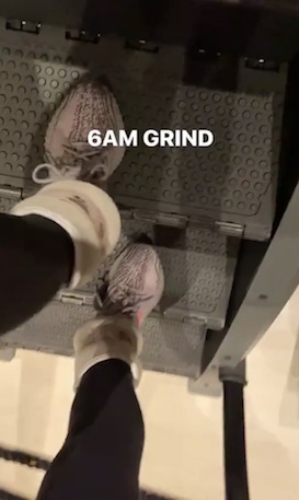 Kim Kardashian working out