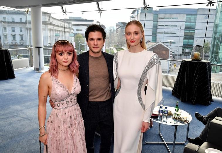 Maisie Williams, Kit Harrington, and Sophie Turner