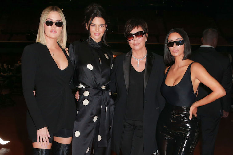Kris Jenner with Khloé Kardashian, Kendall Jenner, and Kim Kardashian