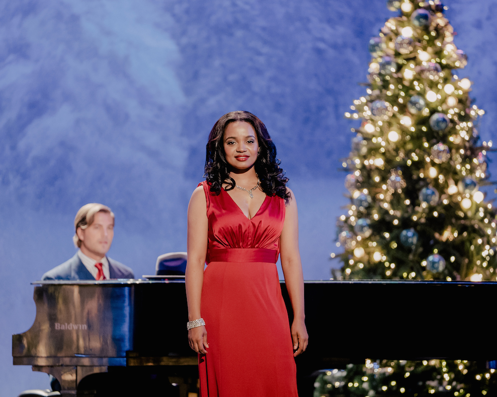 Kyla Pratt and Edward Ruttle in No Time Like Christmas