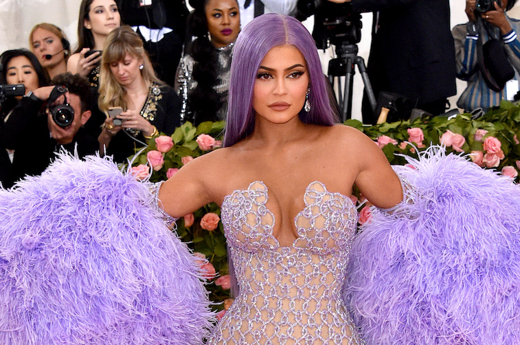 Kylie Jenner wearing a purple dress at the Met Gala