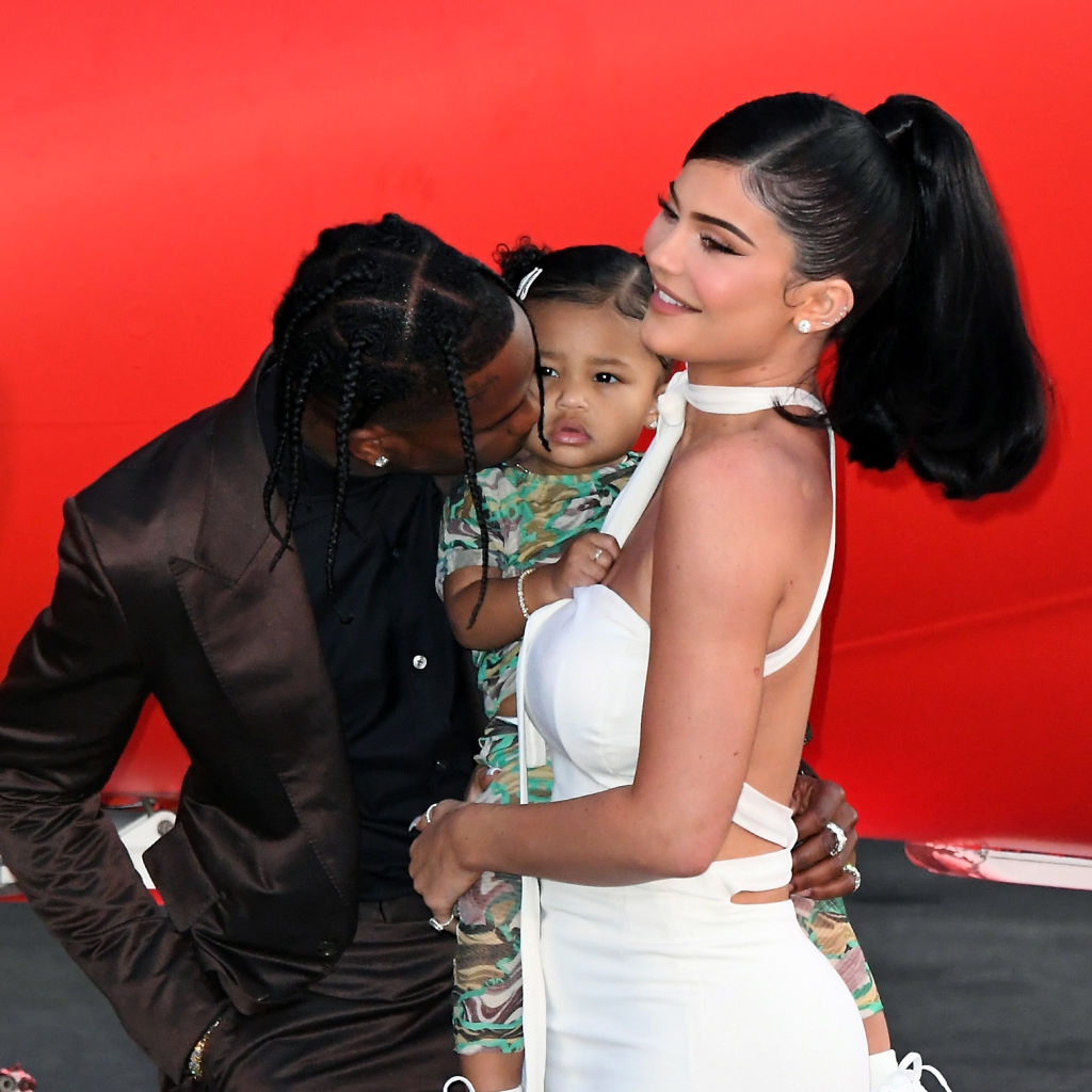 Kylie Jenner, Travis Scott, and daughter, Stormi