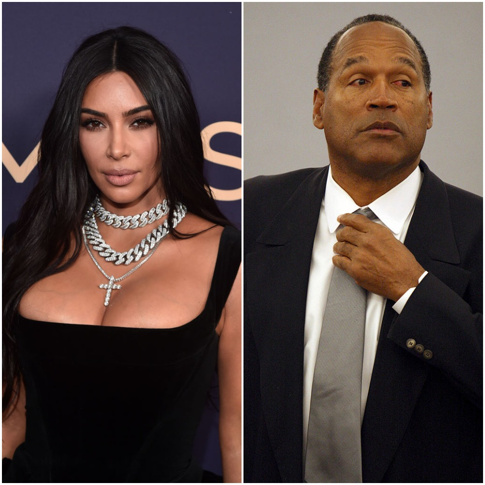 (L): Kim Kardashian West, (R): O.J. Simpson