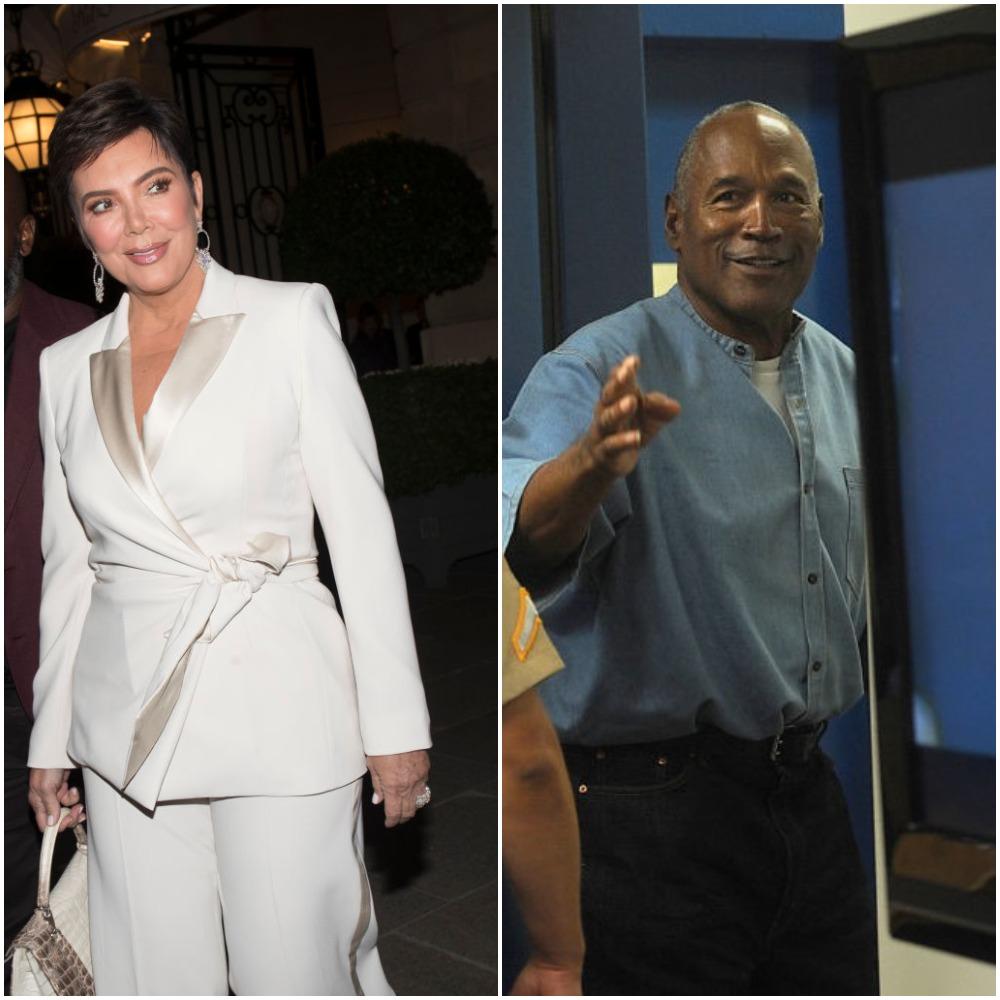 (L) Kris Jenner, (R) O.J. Simpson