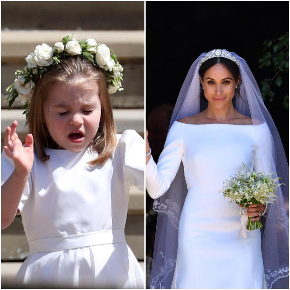(L) Princess Charlotte, (R) Meghan Markle