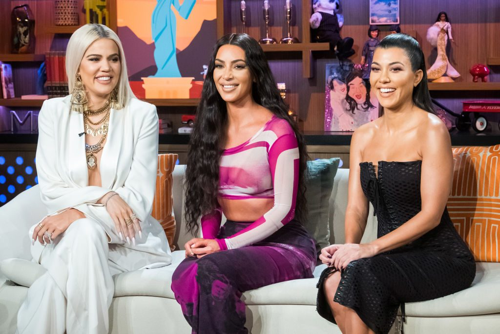 (L-R) Khloe Kardashian, Kim Kardashian, and Kourtney Kardashian