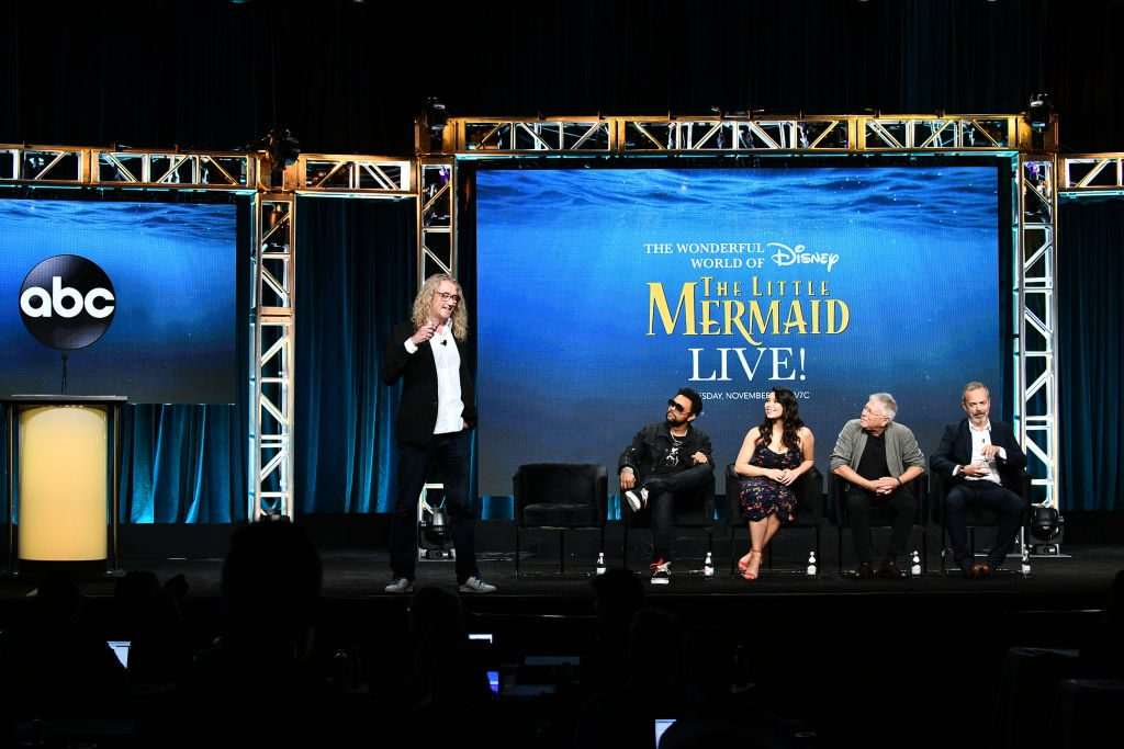 The cast and producers of 'The Wonderful World of Disney presents The Little Mermaid Live!' |
