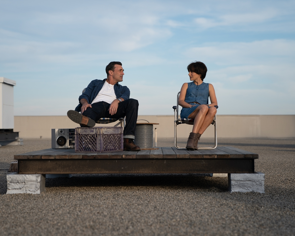 Jon Hamm and Natalie Portman in Lucy in the Sky
