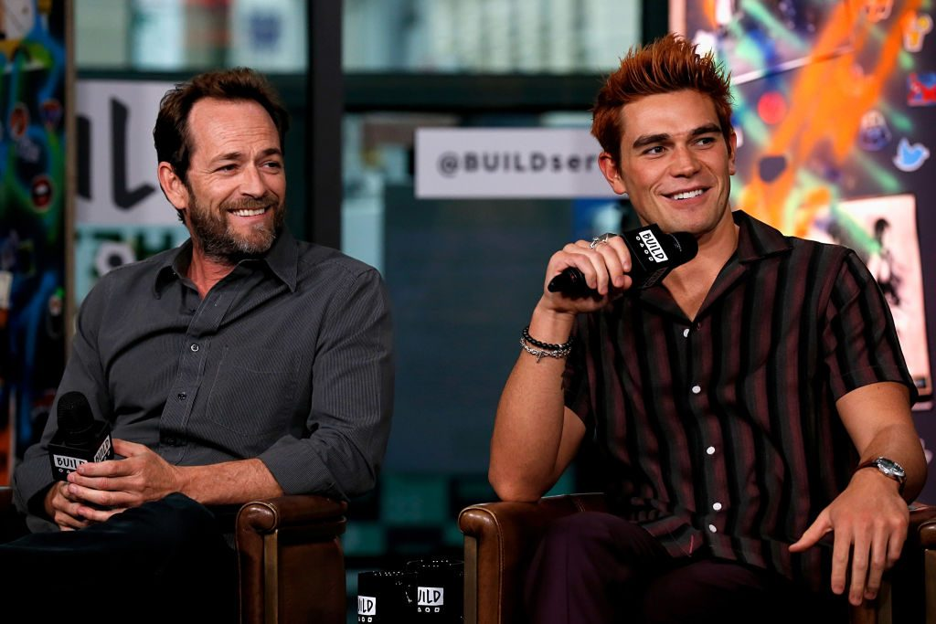 Luke Perry and KJ Apa from 'Riverdale'