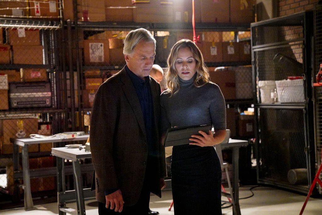 Mark Harmon and Maria Bello NCIS |  Bill Inoshita/CBS via Getty Images