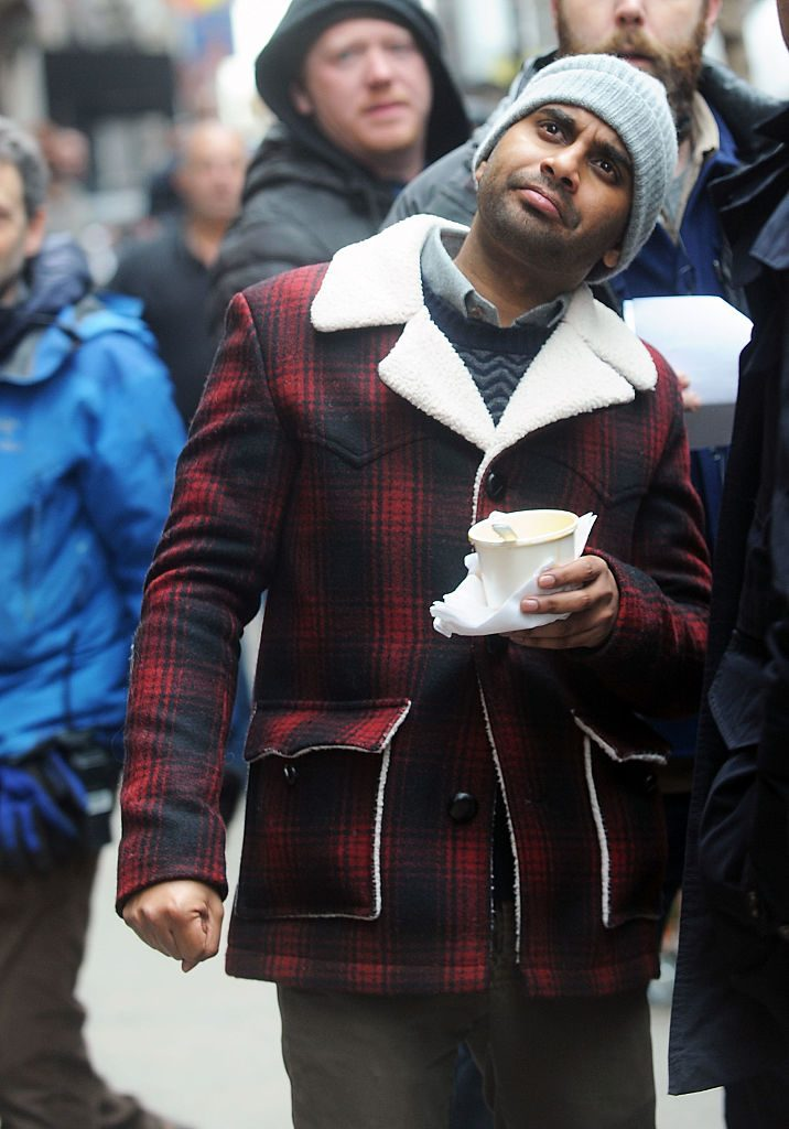 "Aziz Ansari on the set of the Netflix series ""Master of None"