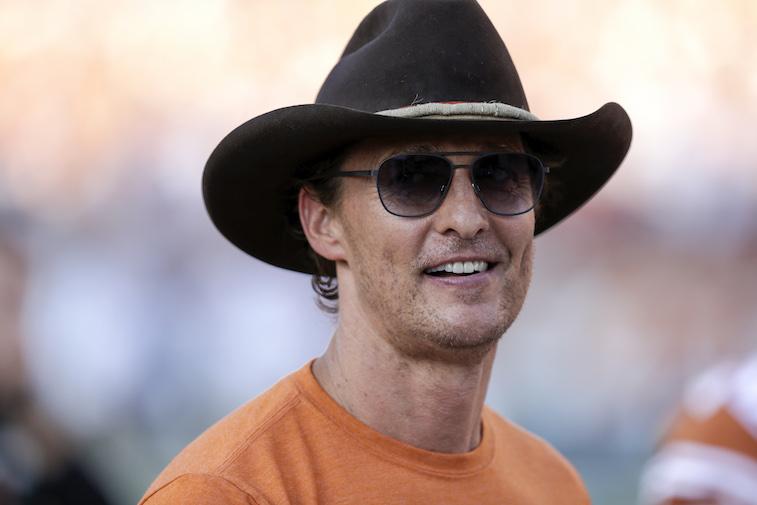 Matthew McConaughey watching a football game