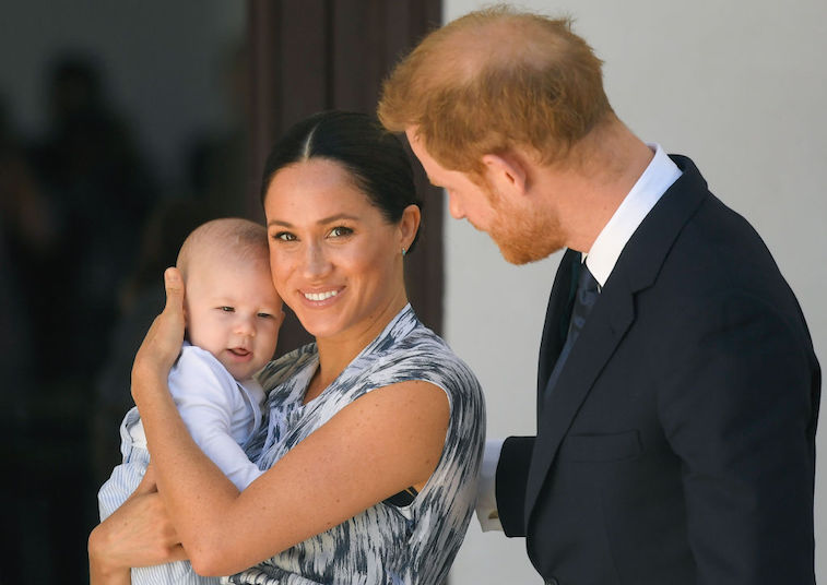 Prince Harry and Meghan Markle with Archie