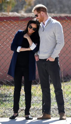 Meghan Markle and Prince Harry in Asni, Morocco on February 24, 2019.