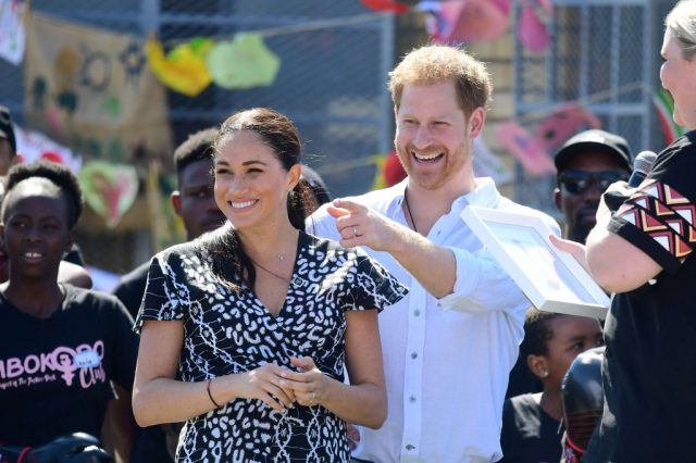 Meghan Markle and Prince Harry during tour of Africa