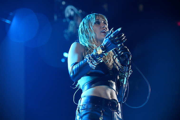 Miley Cyrus performs onstage