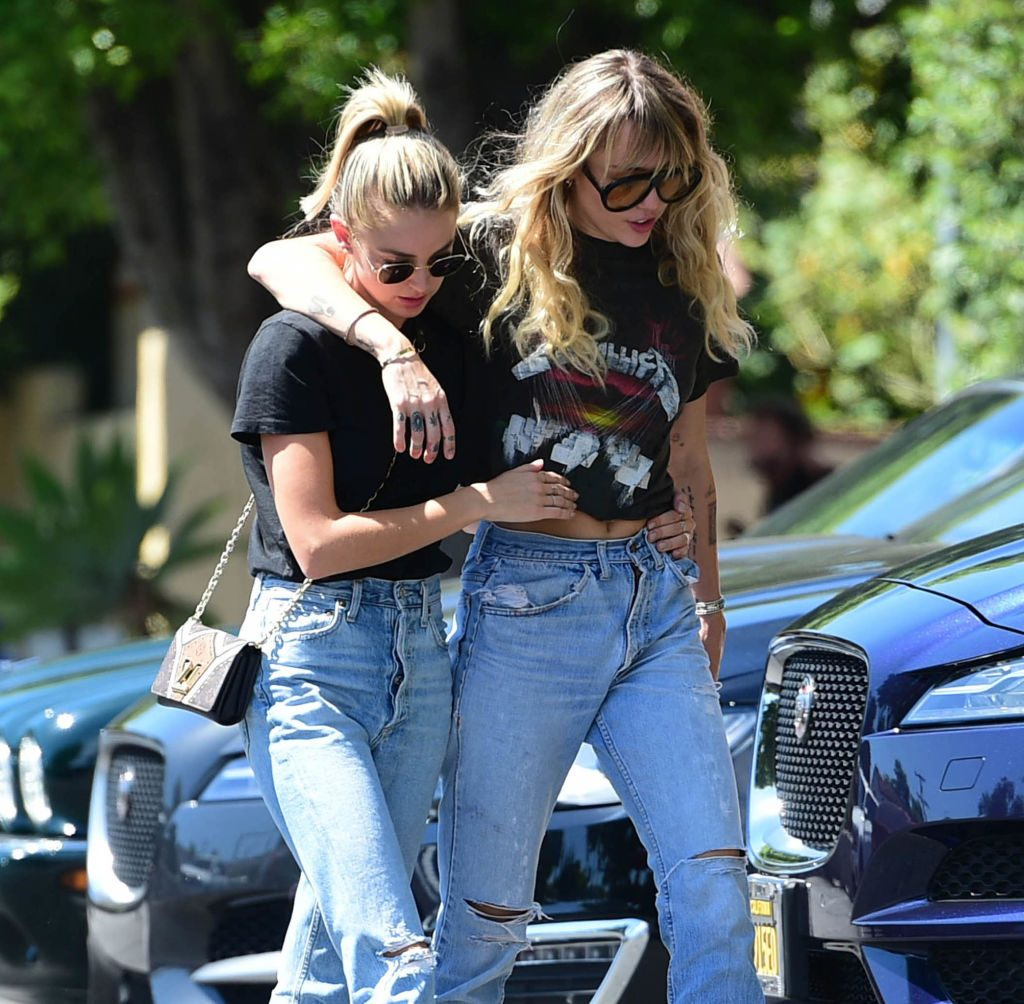 Miley Cyrus and Kaitlynn Carter are seen on September 14, 2019 at Los Angeles