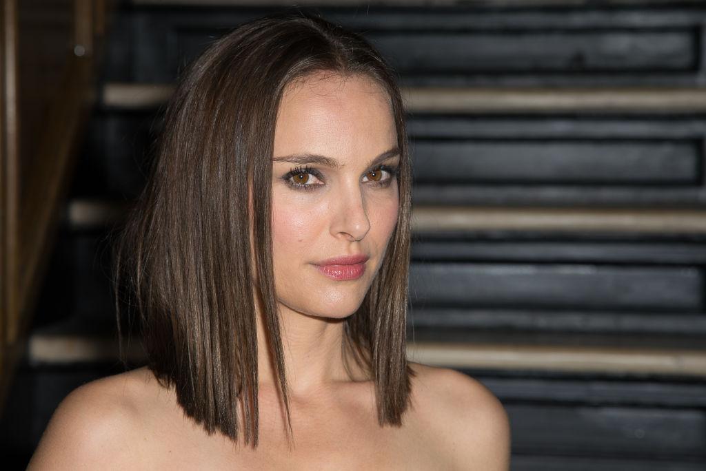 Natalie Portman being interviewed