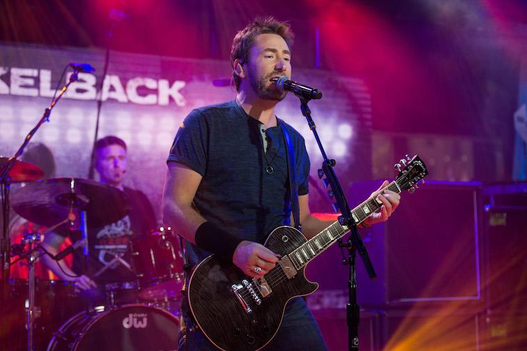 Nickelback performing onstage