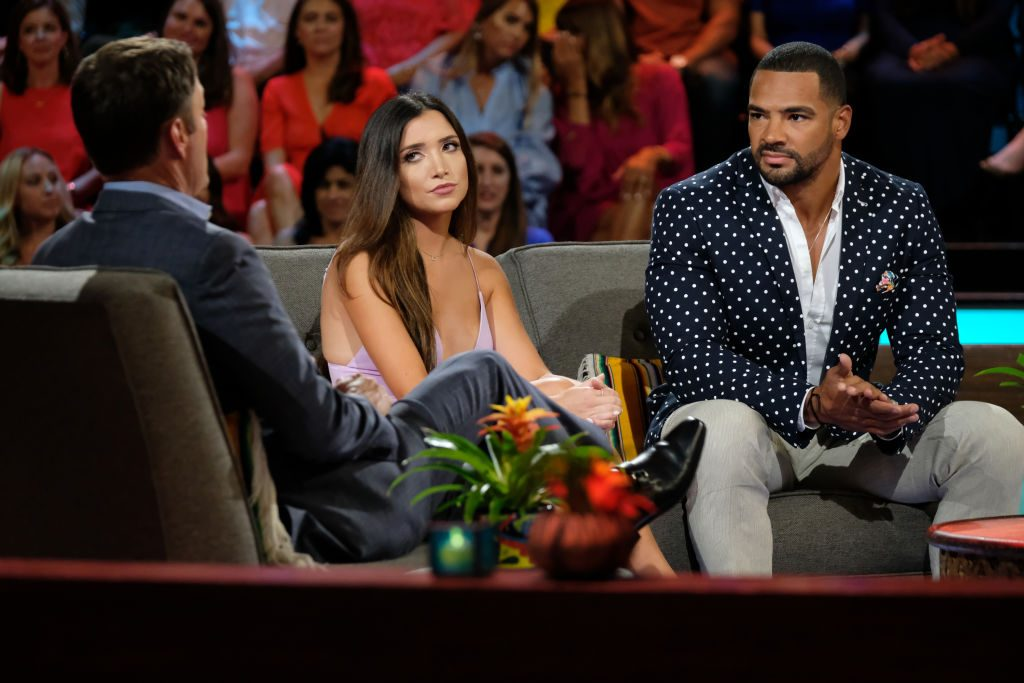 Nicole Lopez-Alvar and Clay Harbor at the Bachelor in Paradise reunion