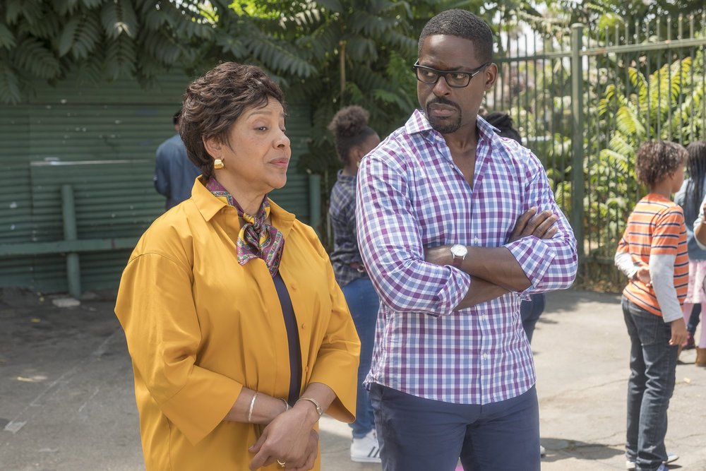 Phylicia Rashad as Carol and Sterling K. Brown as Randall in 'This Is Us' Season 4