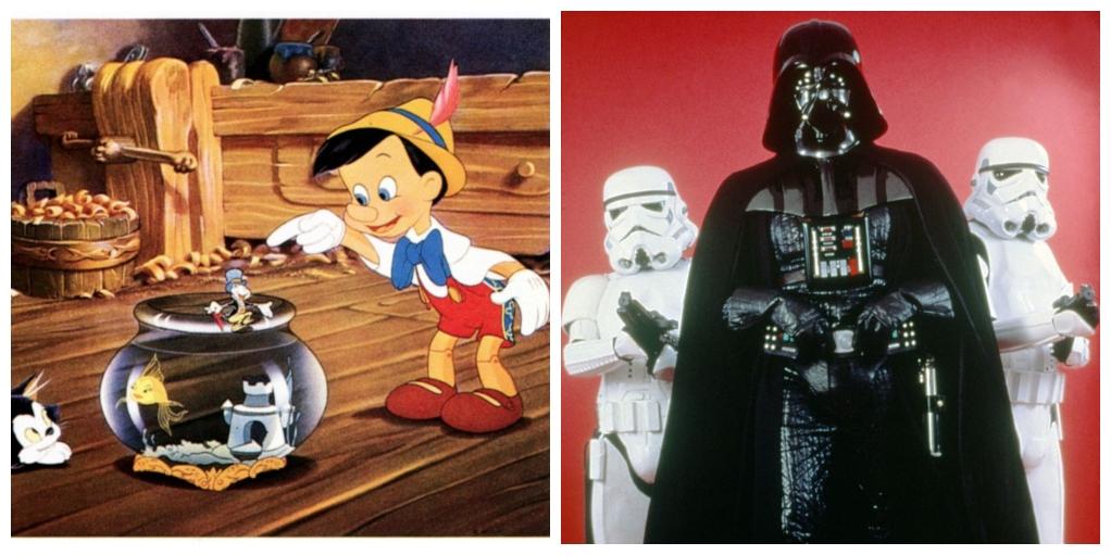 Pinocchio and Darth Vader