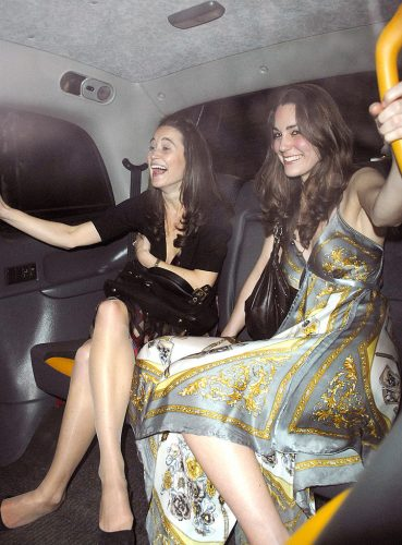 Kate Middleton and her sister, Pippa Middleton, at Mahiki Club on Feb. 1,  2007