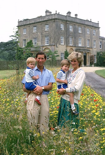 Prince Charles, Princess Diana, Prince William, and Prince Harry