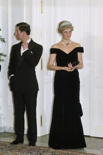 Princess Diana alongside Prince Charles at an event in Germany, 1987