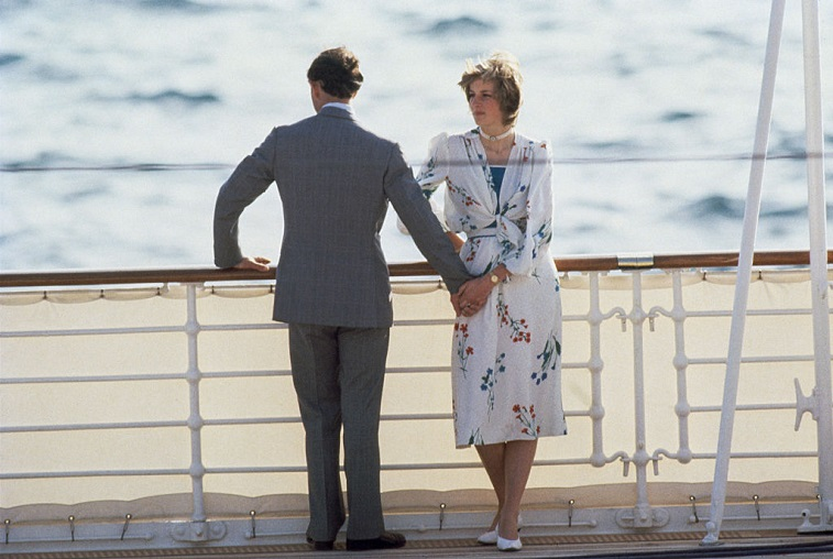 The Prince and Princess of Wales on their honeymoon