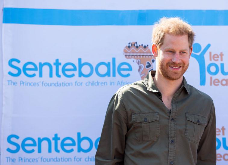 Prince Harry speaking in Botswana