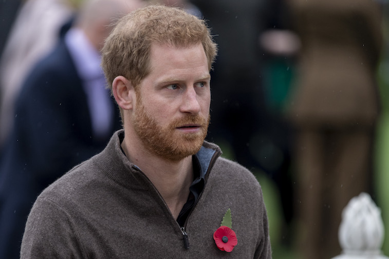 Prince Harry photographed at a royal event