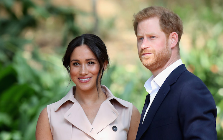 Prince Harry and Meghan Markle on their tour in Africa