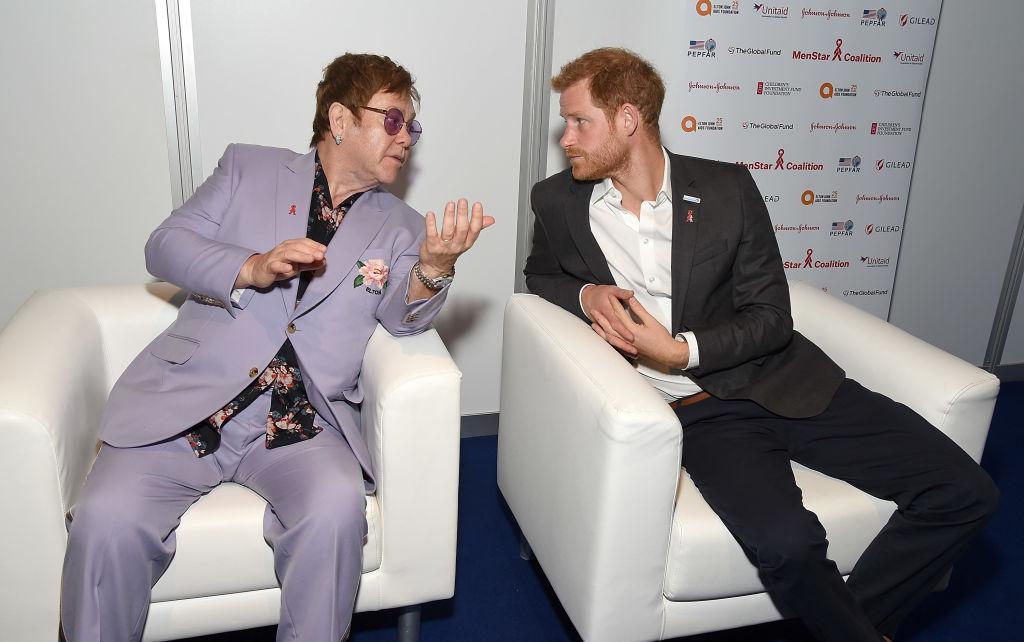 Prince Harry and Elton John