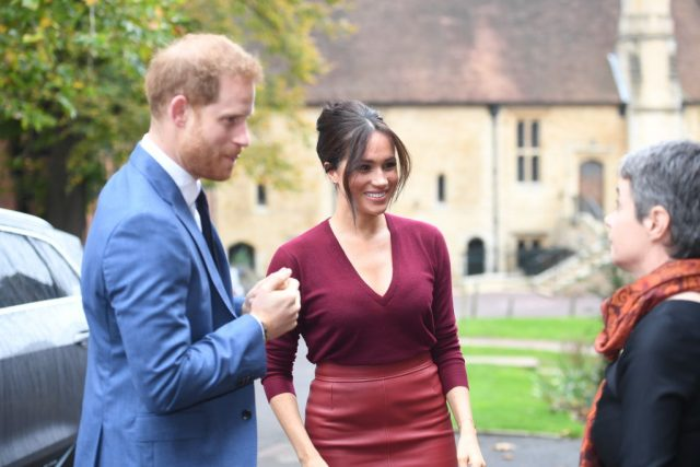 Prince Harry and Meghan Markle on Oct. 25, 2019