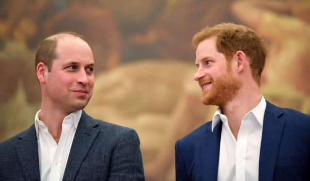 Prince Harry and Prince William on April 26, 2018
