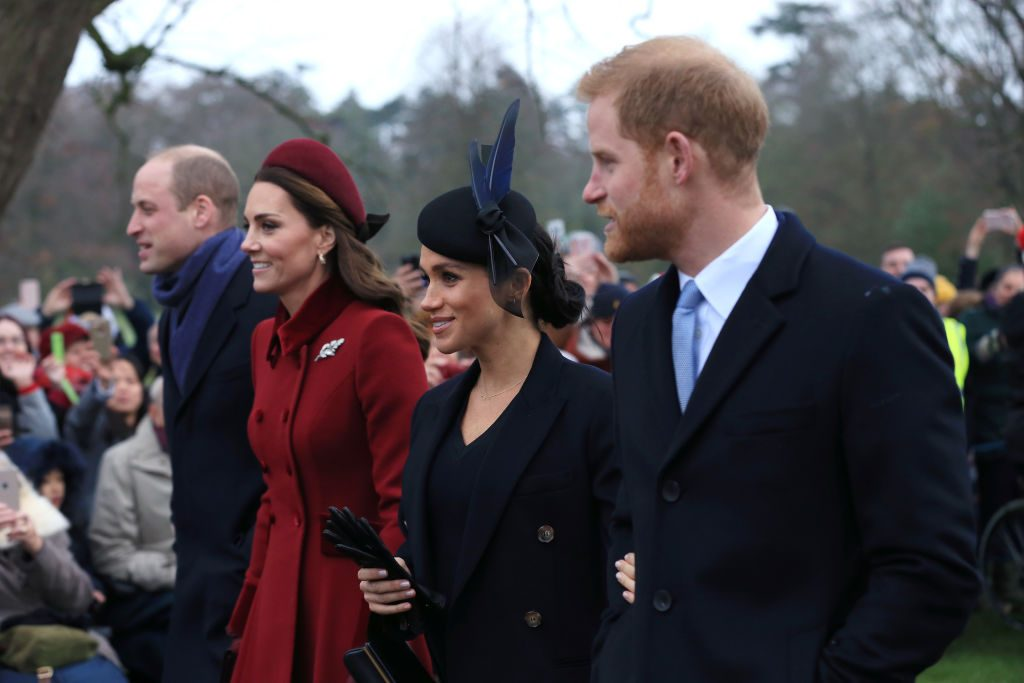 Prince William, Duke of Cambridge, Catherine, Duchess of Cambridge, Meghan, Duchess of Sussex and Prince Harry, Duke of Sussex