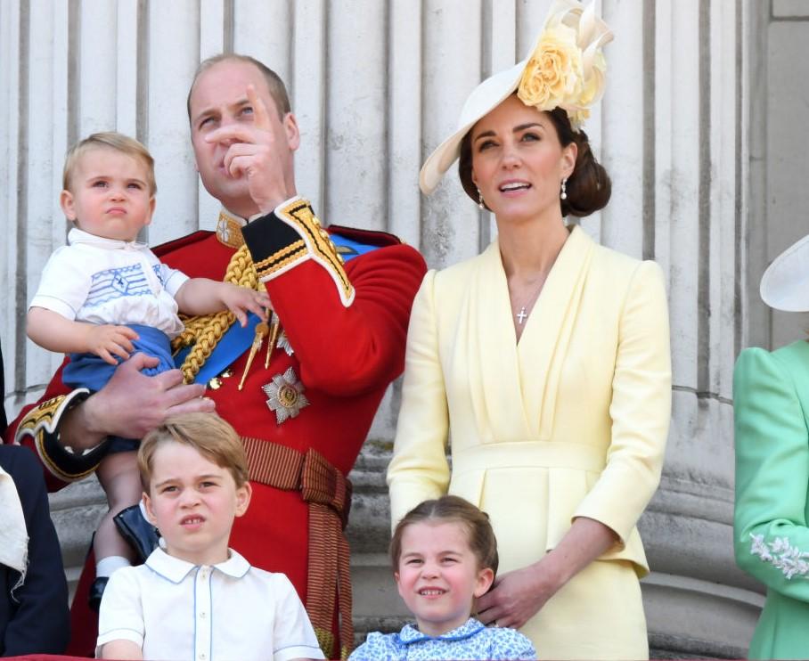 Prince William, Kate Middleton, Prince Louis, Prince George, and Princess Charlotte
