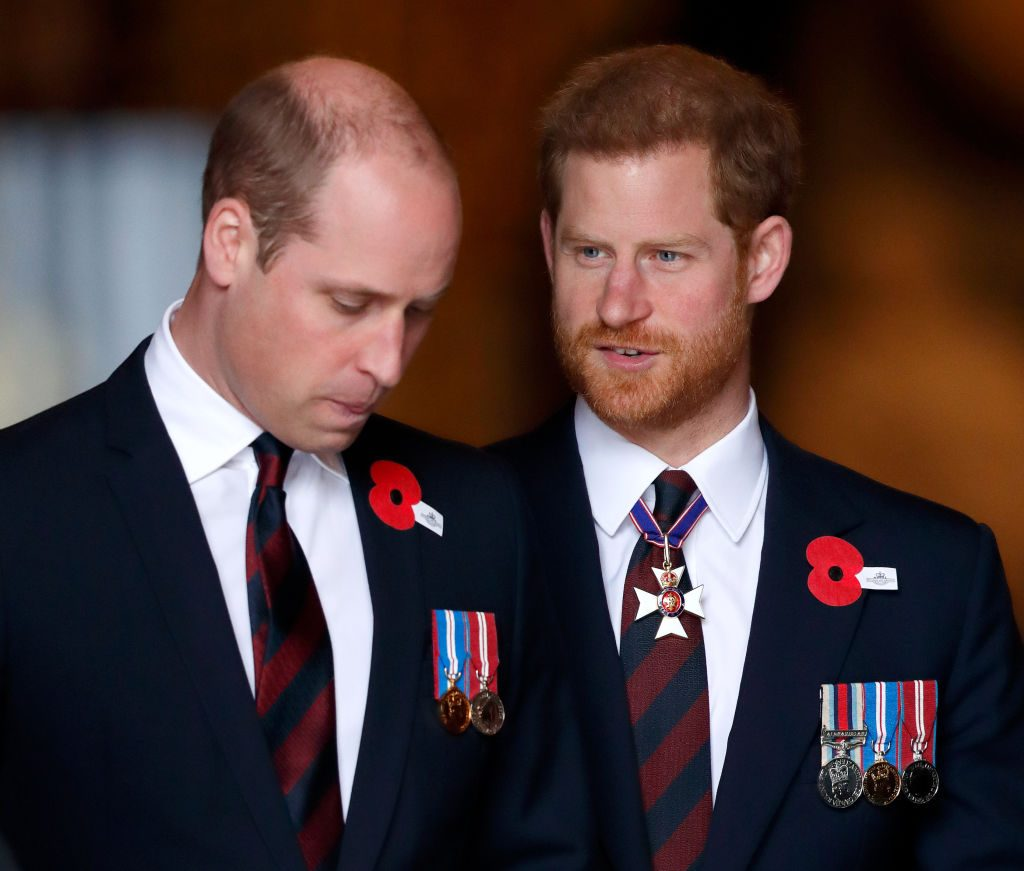 Prince William and Prince Harry at an event