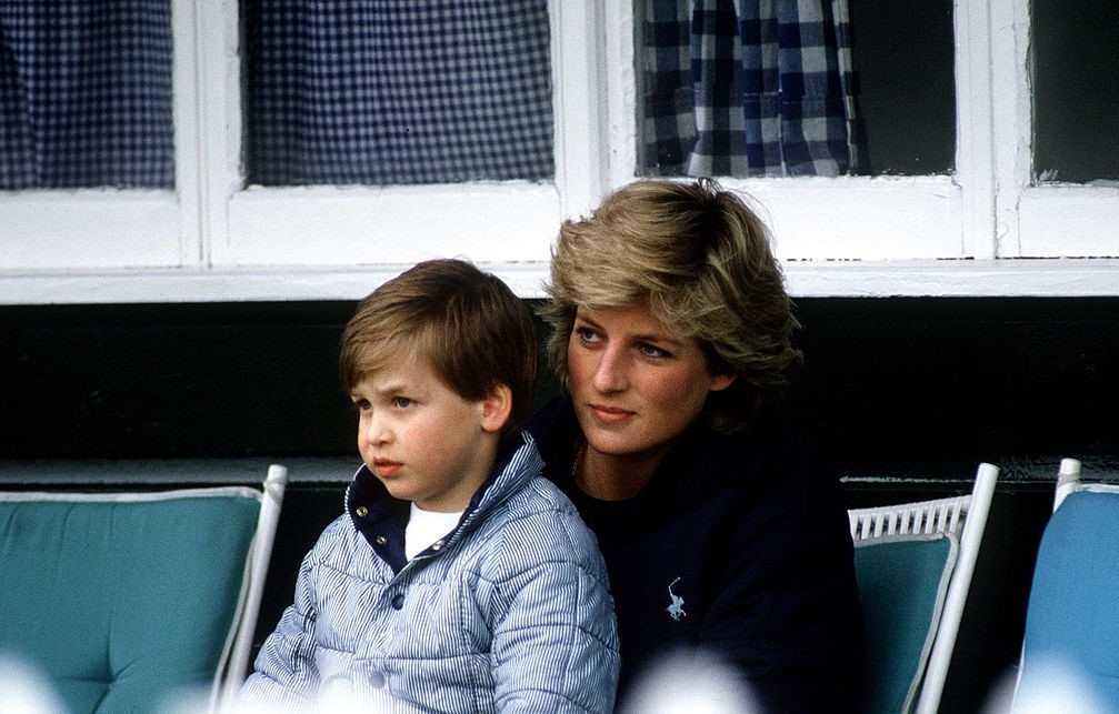 Prince William and Princess Diana