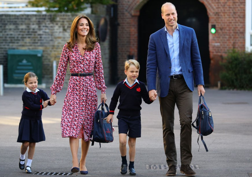 Princess Charlotte, Kate Middleton, Prince George, and Prince William