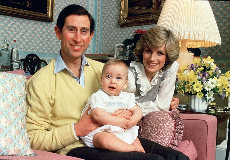Prince Charles and Princess Diana with Prince William
