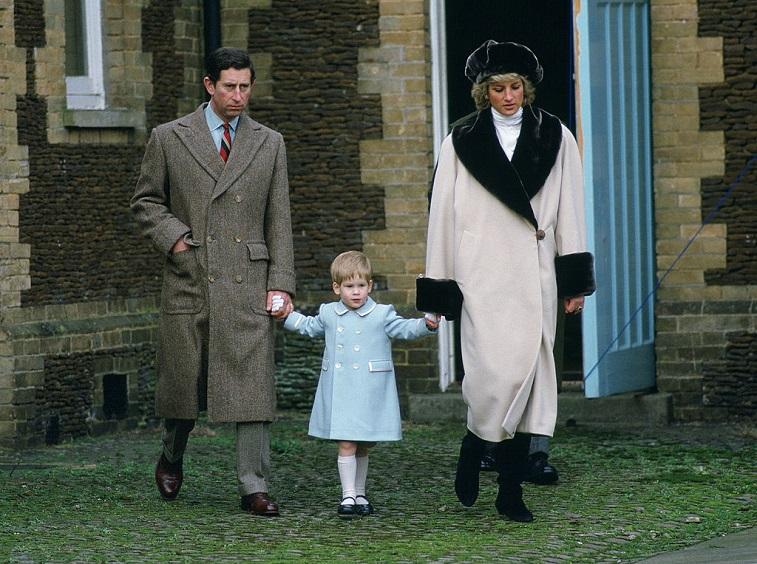 Prince Charles, Prince Harry, and Princess Diana