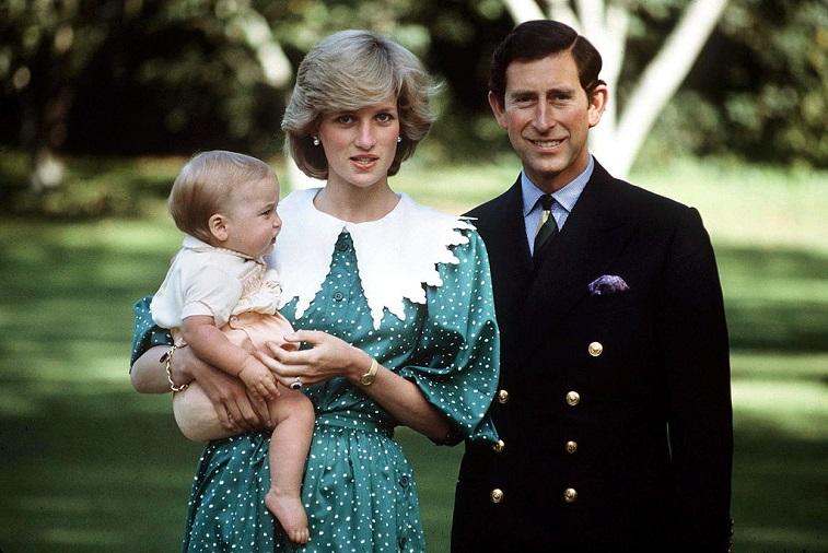 Prince Charles, Princess Diana, and Prince William