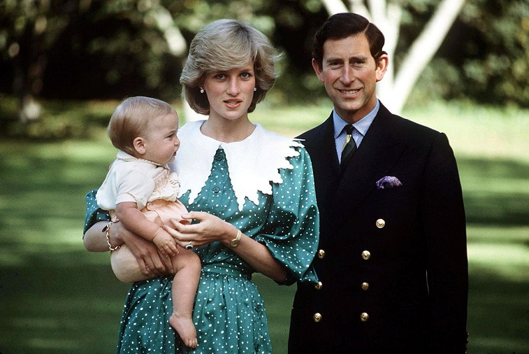 Prince Charles, Princess Diana, and Prince William
