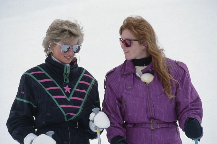 Princess Diana with the Duchess of York