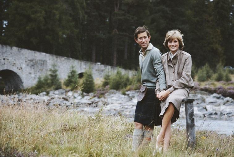 Prince Charles and Princess Diana at Balmoral