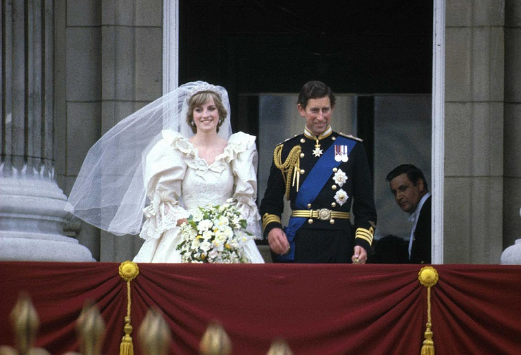Prince Charles and Princess Diana married
