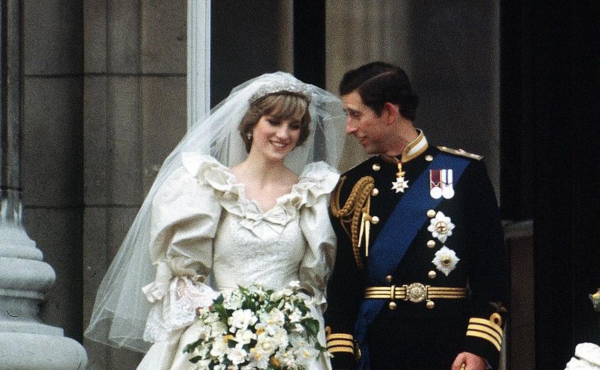 Princess Diana and Prince Charles' wedding day
