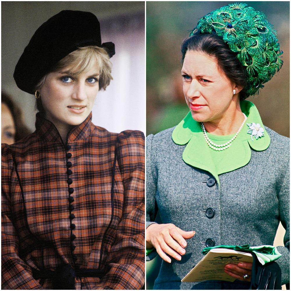 (L): Princess Diana, (R) Princess Margaret